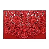 WOLFTEETH 25x Vintage Invitations Papier Mariage Cartes d'anniversaire avec enveloppe Rouge