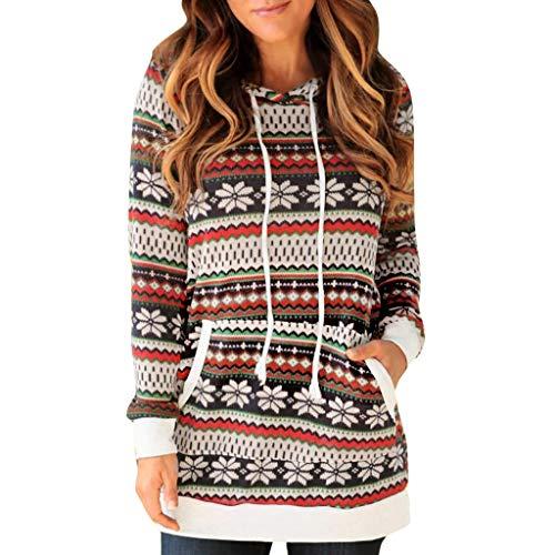LILIHOT Damen Kapuzenpullover Langarm Hoodie Farbe gestreiften Pullover mit Kapuze Winter Sweatshirt Pulli Casual Sport Langarm Shirt
