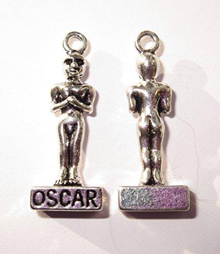 Oscar Statue Handeln Award Pkt 5Tibetisches Silber 3D Charms Anhänger Beads