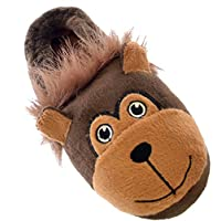 SlumberzzZ Kids Novelty Monkey Padded Slipper with Elasticated Heel FT0669
