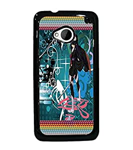 PrintDhaba Fantasy Girl D-5659 Back Case Cover for HTC ONE M7 (Multi-Coloured)