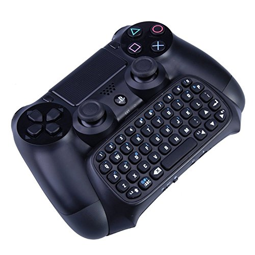 Bluetooth-wirless-tastatur (VersionTech schwarz Wireless Bluetooth Text Messenger spielend Tastatur Chatpad Controller GamePad für Sony PlayStation 4-PS4)