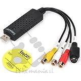 Capturadora de video/audio por USB 2.0 para TV videos VHS a DVD WIN7 PS3 XBOX Envio 48/72H Felixmania®