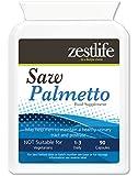 Saw Palmetto 2500mg ALTA RESISTENZA equivalente ! - 90 caps | Efficace per prevenire e curare disturbi del tratto urinario / prostata.