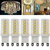 Ralbay 5er-Pack G9 3W LED Lampe [25W Halogen, 300LM, Warmweiß , AC 220V, 360º Abstrahlwinkel] G9 LED Birnen, LED Leuchtmittel