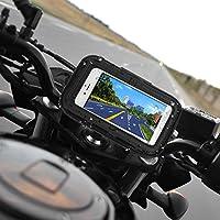 Rupse 12,7 cm impermeabile 360 moto e bici con borsa Custodia/supporto per navigatore satellitare GPS