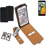 K-S-Trade Flipstyle Hülle für Vestel V3 5040 Handyhülle Schutzhülle Tasche Handytasche Case Schutz Hülle + integrierter Bumper Kameraschutz, schwarz (1x)