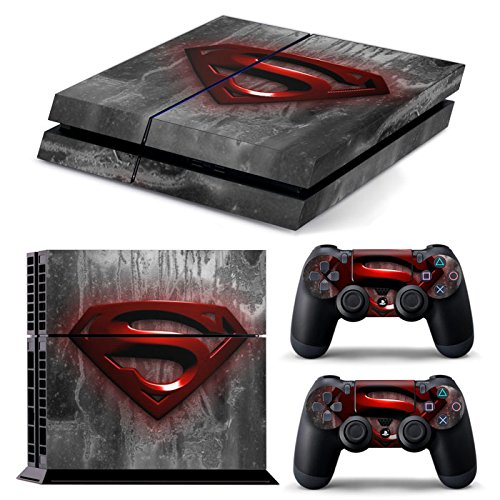Price comparison product image PS4 RED SUPERMAN UK FULL BODY Accessory Wrap Sticker Skin Cover Decal for PS4 Playstation 4