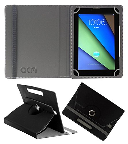 Acm Rotating 360° Leather Flip Case For Zync Z900 Plus Tablet Cover Stand Black  available at amazon for Rs.149