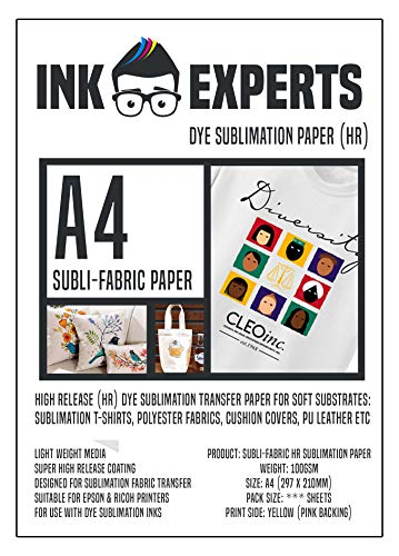 Ink Experts Subli-Fabric - Papel sublimación A4
