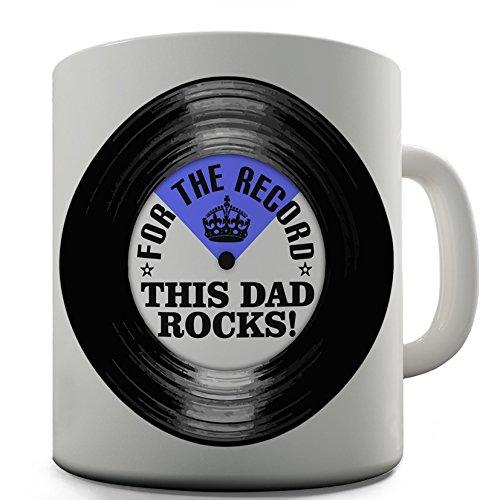 Dad Rocks Tee (Dad Rocks Funny Design Neuheit Geschenk Tee Kaffee Tasse Office)