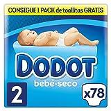 Dodot - Pañales con Canales de Aire Bebé-Seco, Talla 2, para Bebes de 3-6 kg - 78 Pañales