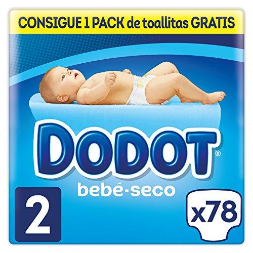 Dodot Bebé-Seco Pañales Talla 2, 78 Pañales, el unico Pañal con canales de Aire, 4-8 kg