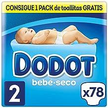 Dodot Bebé-Seco Pañales Talla 2, 78 Pañales, el unico Pañal con canales