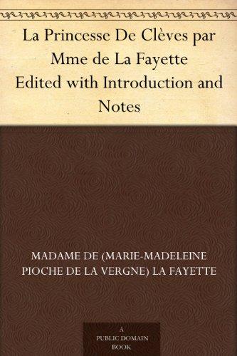 Couverture du livre La Princesse De Clèves par Mme de La Fayette Edited with Introduction and Notes