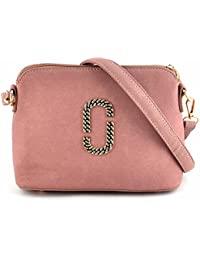 Urbantra Trendy Casual Daily Use Faux Leather Cross Body Sling Bag For Women & Girls With Golden Zip Closure &...