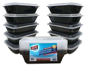 lot de 10 1 compartiment pour nourriture bo tes de rangement en plastique sans bpa. Black Bedroom Furniture Sets. Home Design Ideas