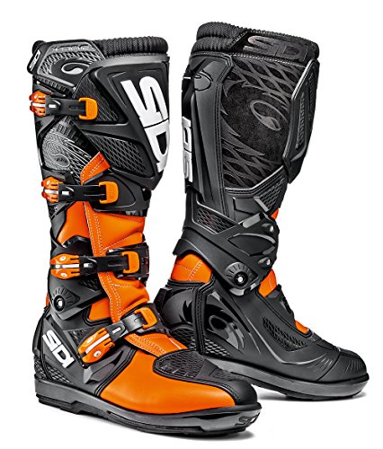 Sidi X3-Xtreme SRS Motorbike Scooter Motocross Off Road Quad Enduro Motorcycle MX Boots, Orange Fluo/Black - Orange - EC 44