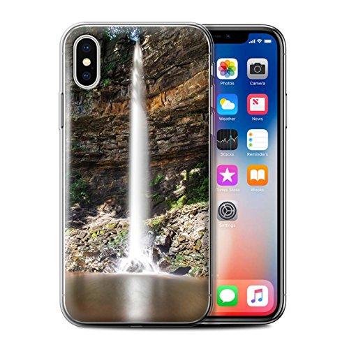 Stuff4 Gel TPU Hülle / Case für Apple iPhone X/10 / Felsigen Stream Muster / Wasserfälle Kollektion Hoch/Felsen