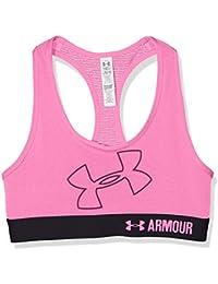 Under Armour sujetador deportivo para niñas, con logo de Armour, niña, Sujetador de deporte, Logo, Pink Punk, XL