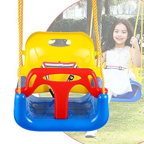 Bunao 3 en 1 Columpio Infantil de Plástico para Exterior Asiento de...