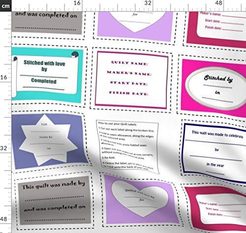 Amanda Tank Top (Quilt Label, Quilten, Nähen Stoffe - Individuell Bedruckt von Spoonflower - Design von Amanda Jane Textiles Gedruckt auf Synthetik Jersey)