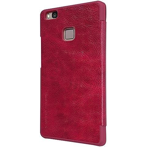 Nillkin Qin Funda de piel para Huawei P9lite, color rojo
