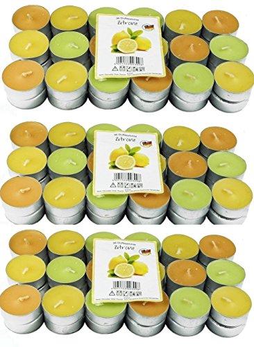 108 Zitronella Duftlichte Teelichter , farbig gemischt , Aromatischer Zitronen Duft , Anti Mücken Kerzen , Duftkerzen , Outdoor Kerzen , Mückenabwehr hillfield (108)