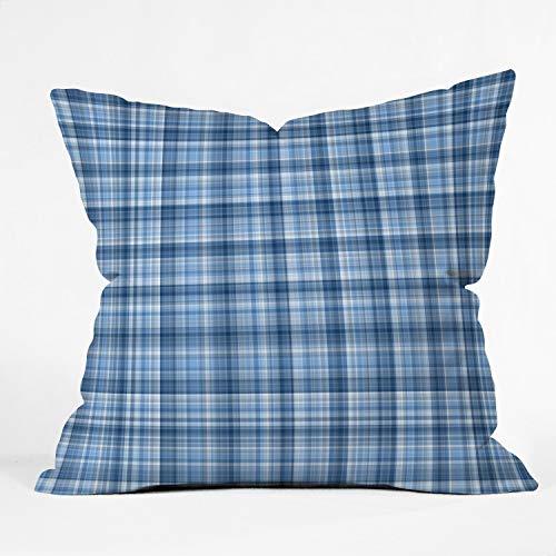 Suminla-Home Überwurf-Kissenbezüge, Wintermotiv, dekorativ, 45 x 46 cm, Blau