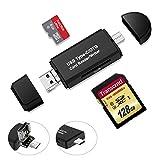 Thinkcase SD Kartenleser USB Type C, USB 2.0 Micro USB OTG Kartenlesegerät Adapter Micro SD, Micro SDHC, Micro SDXC, SD, TF, SDHC, SDXC, MMC, RS-MMC, UHS-I Karte USB Stick Kartenleser für Samsung Huawei