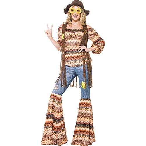 70er Jahre Outfit Hippie Kostüm L 44/46 60er Jahre Vintage Hippiekostüm Flower Power Damenkostüm Blumenkind Mottoparty Verkleidung Retro Party Faschingskostüm Karneval Kostüme (Und 70er 60er Jahre Kostüme)
