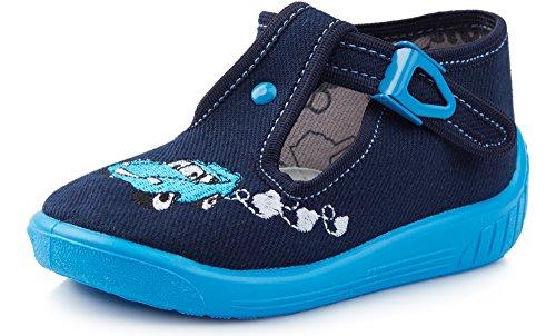 Ladeheid pantofole bambino e bambina larw001(blu marino/blu, 20)