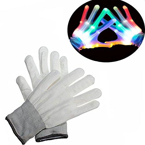 Spielzeug ab 2 - 5 Jahre, DMbaby geburtstagsgeschenk für kinder LED Blinklicht Bunte Rave Handschuhe (Kostüme Zu Tanzen Wieder)