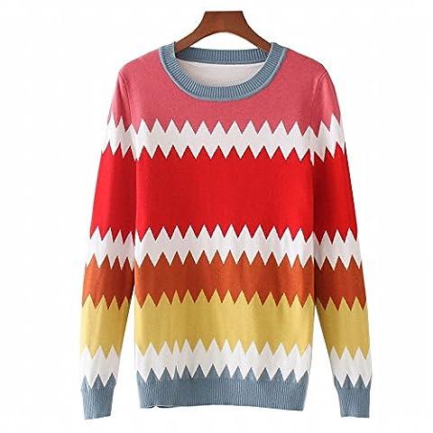 Chandail à manches longues automne et l'hiver, Sau San Chemise tricoté, code, rouge