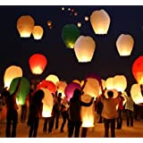 SKY LANTERN PAPER LAMP LIGHT WISH CANDLE LIGHT PARACHUTE HOT BALLOON PACK OF 3