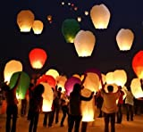#2: SKY LANTERN PAPER LAMP LIGHT WISH CANDLE LIGHT PARACHUTE HOT BALLOON PACK OF 3