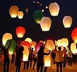 100 Farolillos Volantes Colores Mixtos Linternas Voladoras - Sky Lantern Voladores