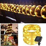 Kreema Solarbetriebene Lichterketten 33ft 100 LED Sternenfee 8 Modi Draht Licht Indoor Outdoor Wasserdichte Dekoration Warme Weiße Beleuchtung