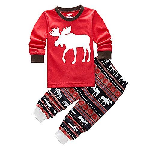 ted Kids Kleidung Pyjamas Set Kid Boy Girl Weihnachten Home Nightwear Top Shirt und Hosen Pjs Kit für Höhe 100cm Größe 4Y (Kid Pjs)