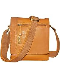 Kan 100% Genuine Leather Crossbody Sling Bag||Messenger Bag||Handbag||Hard Disk Bag||Neck Pouch||Shoulder Bag... - B06ZYNMLTN
