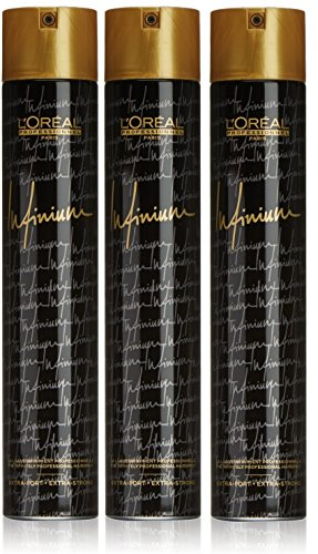 Loreal Infinium Haarspray extra strong 500 ml, 3er Pack (3 x 500 ml)