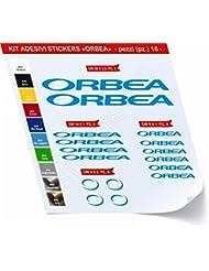 Orbea_Kit 1 - Juego de adhesivos para bicicleta, 16 unidades, diferentes colores - Cód.: 0466, Blu Leggero cod. 053