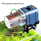 #3: COODIA Auto Fish Food Feeder Battery Operated Automatic Aquarium Tank Timer Feed Fish, 4 Times Max A Day, Capacity Adjustable, Led Display