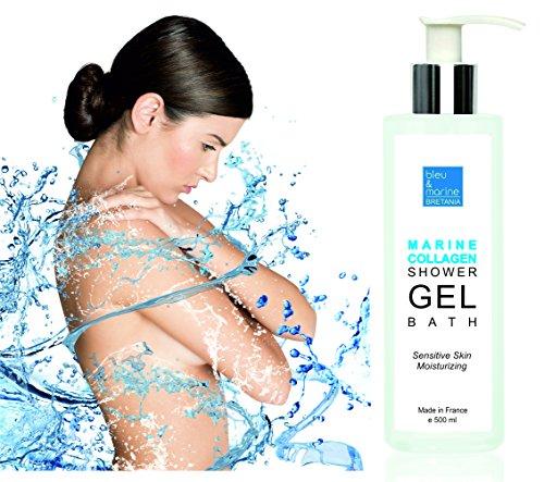 Marine Collagene Gel Doccia 500ML Gel da Bagno Delicato della pelle