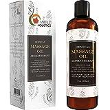 Sensuale massaggio olio per il corpo che è infuso con aromaterapia oli essenziali di lavanda, ylang ylang mandorla dolce e jojoba puro pressato a freddo per rilassanti e sexy sensazioni per donne e uomini