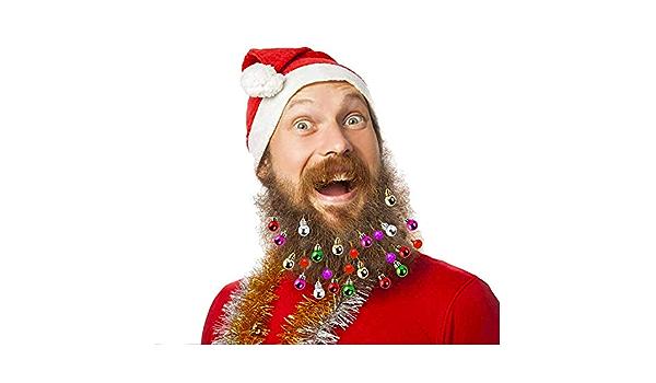 tolles Weihnachts und Silvester-Geschenk 12-teiliger Weihnachten Bartschmuck Spielzeug-Bartschmuck Yissma Leuchtender Bartschmuck