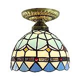 Tiffany-Lampe Deckenleuchte Flurlampe Natürliche Farbe Schale Und Glas Lampeschirm Kreative Deckenlampe Innenbeleuchtung Balkonlampe Kugel Design Deckenbeleuchtungen Ø15CM E27