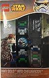 LEGO Star Wars Han Solo und Chewbacca Armbanduhr Kinderuhr NEU (ohne Figur)
