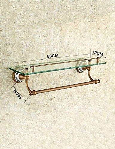 DEED Wandbehang Mount Rack WC Alle Bronze Badezimmer Glas Kosmetische Multifunktions Rack Handtuchhalter Keramik Geschnitzten Spiegel Vorderen Rahmen Lagerregal -