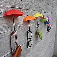SHOP STORY - Pack de 6 Parapluies Porte-clés et Vide Poche avec Fixation Murale - Déco Pratique Esthétique et Design